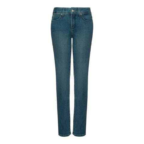NYDJ Blue Marilyn Straight Leg Premium Denim Jeans