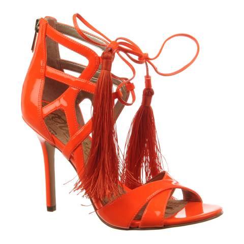 Sam Edelman Orange Leather Azela Heels