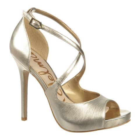 Sam Edelman Gold Leather Elizabeth Heels
