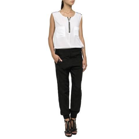 Replay Black/White Stud Jumpsuit