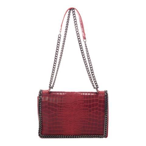 Lisa Minardi Red Leather Shoulder Bag
