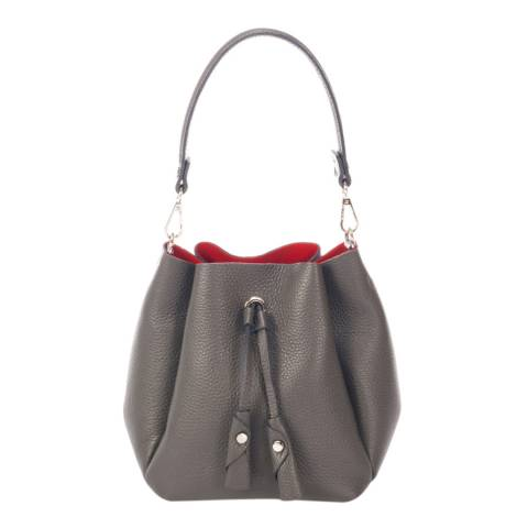 Giorgio Costa Grey Leather Bucket Bag