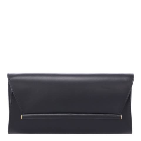 Massimo Castelli Black Leather Clutch Bag