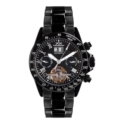 Hindenberg Men's Black Air Thunder Stainless Steel Watch