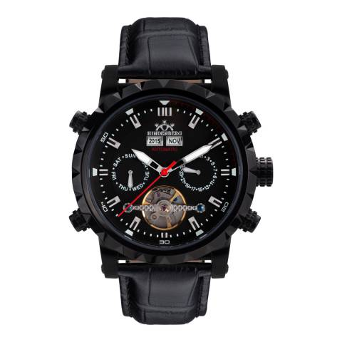Hindenberg Men's Black Expeditor Leather Watch