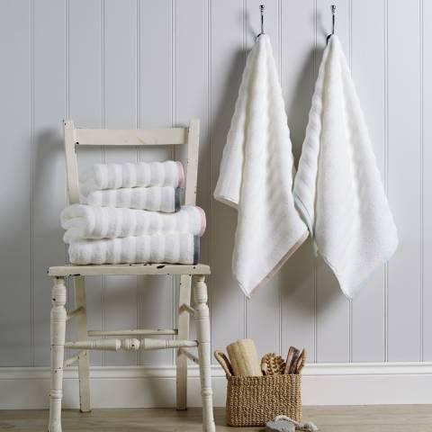 Sir Jacob Behrens Pink 100% Cotton Linen Border Hand Towel 600gsm