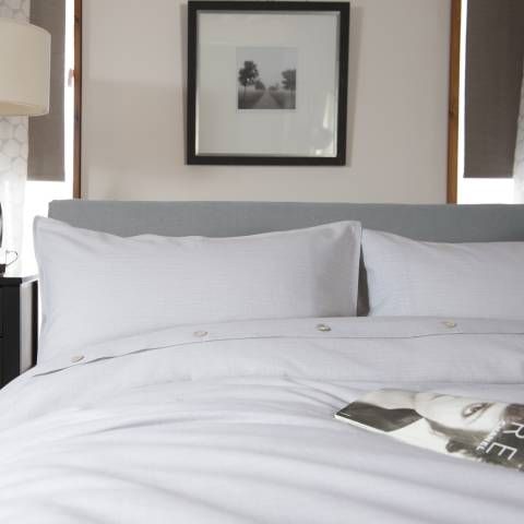 The White Room Light Grey Santa Fe Single Duvet Set