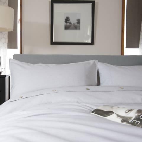 The White Room Light Grey Cotton St Maxime Single Duvet Set