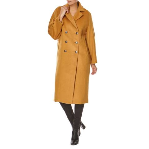 Bolongaro Trevor Camel Double Breasted Wool Blend Coat