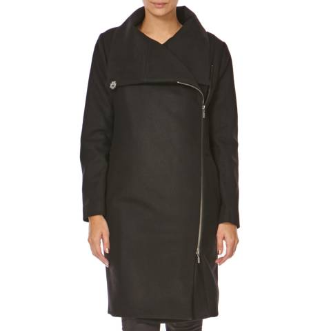 Bolongaro Trevor Black Zip Blanket Coat