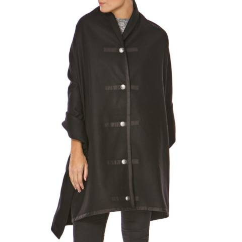 Bolongaro Trevor Black Military Wrap Coat