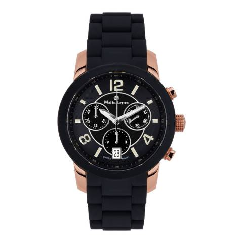 Mathieu Legrand Women's Black/Rose Gold Nacre Watch