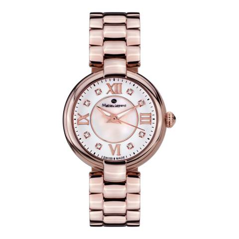 Mathieu Legrand Women's Rose Gold Mother of Pearl Fleur du Matin Watch