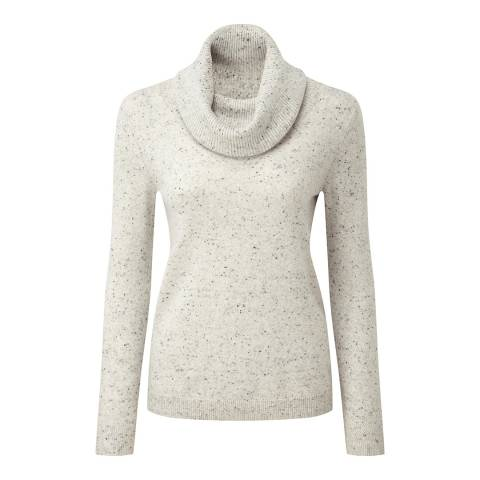 Pure Collection Heather Grey Cowl Neck Cashmere Jumper