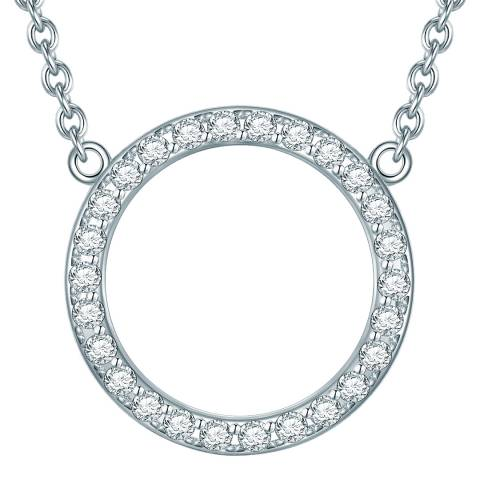 Carat 1934 Sterling Silver Zirconia Pendant Necklace