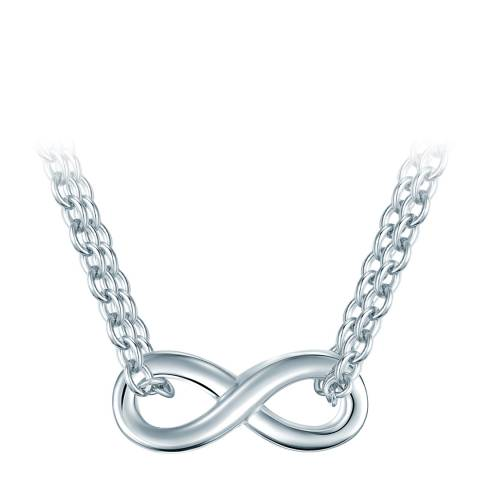 The Pacific Pearl Company Silver Infinity Pendant Necklace