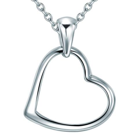 Carat 1934 Sterling Silver Heart Necklace