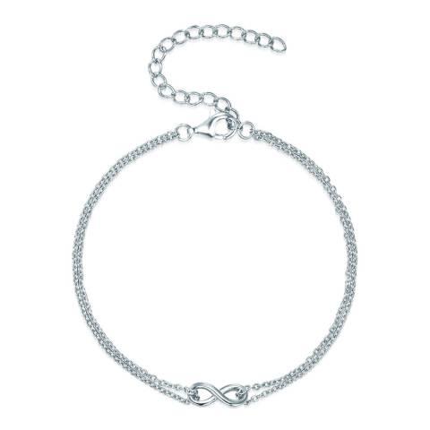 Carat 1934 Silver Infinity Bracelet