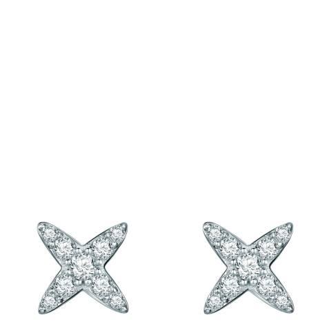 Carat 1934 Silver Cross Stud Earrings