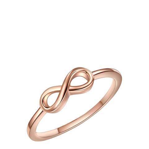 Saint Francis Crystals Rose Gold Infinity Ring