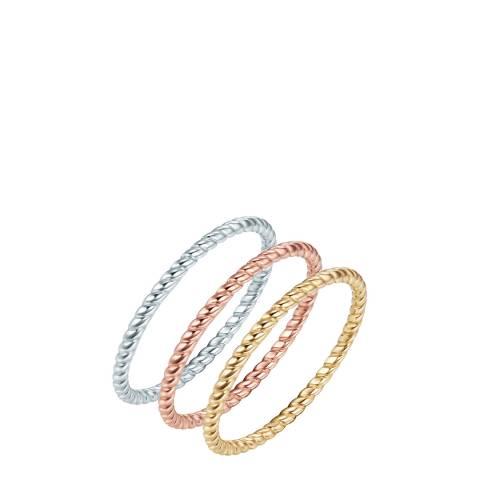 Ines Cavalera Set of Three Band Rings