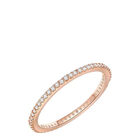 Saint Francis Crystals Rose Gold Band Ring