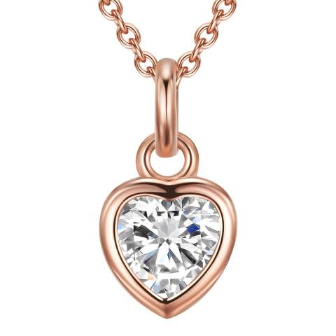 Carat 1934 Rose Gold Heart Pendant Necklace