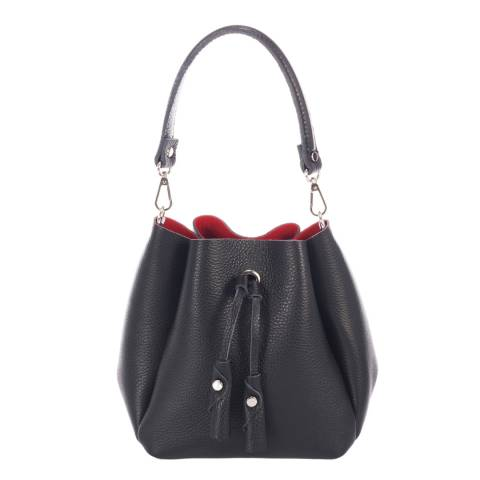 Giorgio Costa Black Leather Bucket Bag