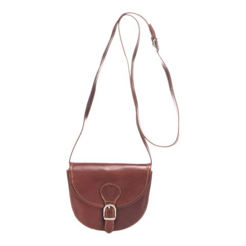 Giorgio Costa Brown Leather Cross Body Bag