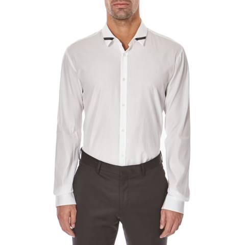 Hugo Boss Open White Ero Cotton Shirt