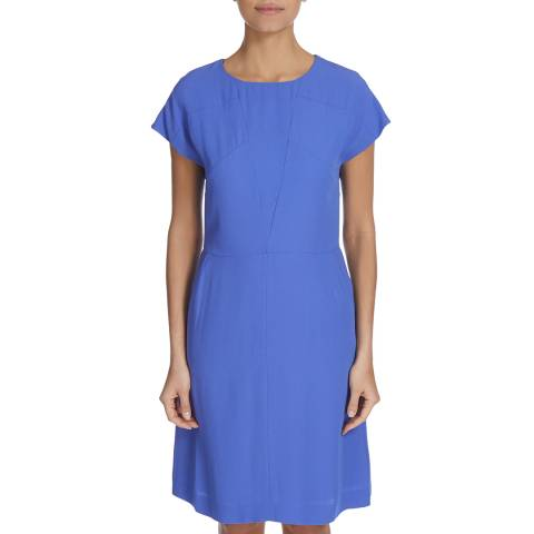 Boss by Hugo Boss Bright Blue Direlli Fit & Flare Dress