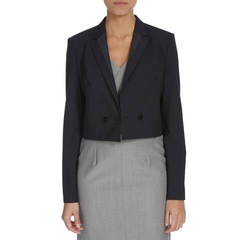 Boss by Hugo Boss Navy Jeluna Cropped Jacket