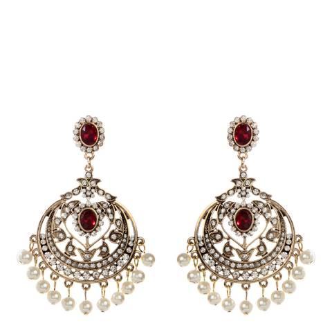 Amrita Singh Ruby/Gold Gayatri Post Earrings