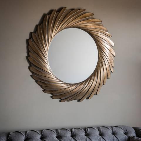 Gallery Gold Verdigree Lowry Mirror 100x100cm