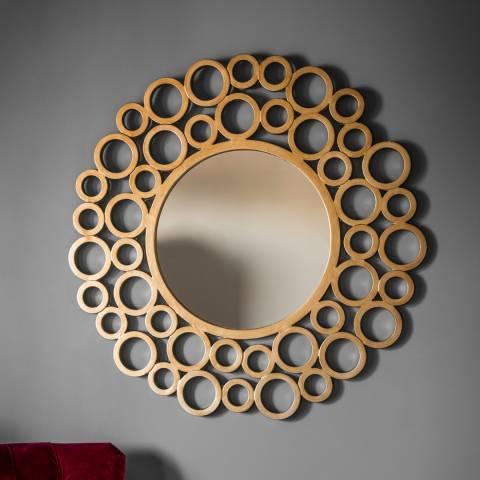 Gallery Gold Wrakes Circular Mirror 118x118cm