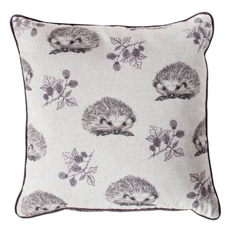 Kilburn & Scott Plum Hedgehog and Blackberry Cushion 45x45cm