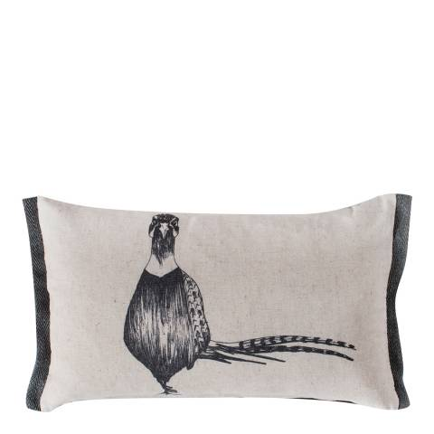 Gallery Grey Lone Pheasant Cushion 30x50cm