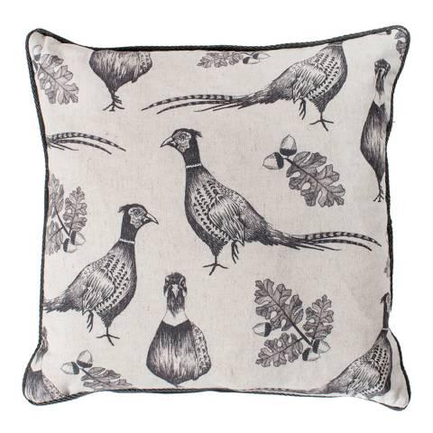Gallery Grey Pheasant and Acorn Cushion 45x45cm