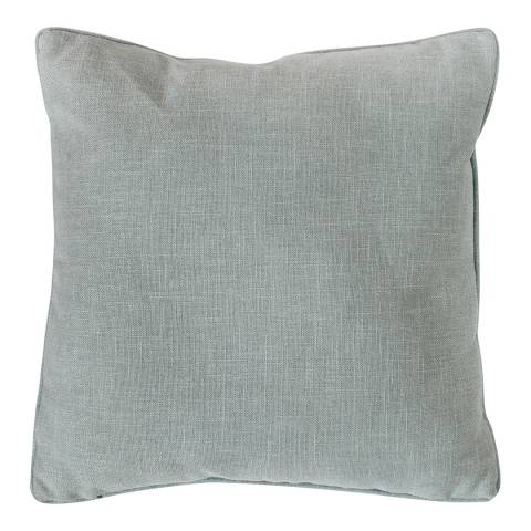 Parisian House Duck Egg Textured Piped Cushion 45 X 45cm