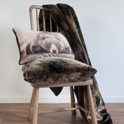 Gallery Mocha Grizzly Faux Fur Throw 140x200cm