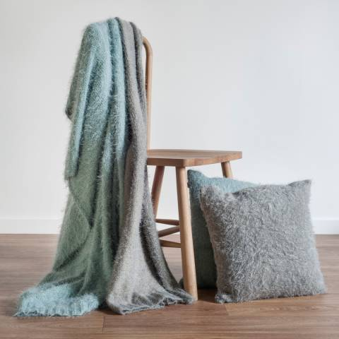 Kilburn & Scott Silver Textured Throw 123x152cm