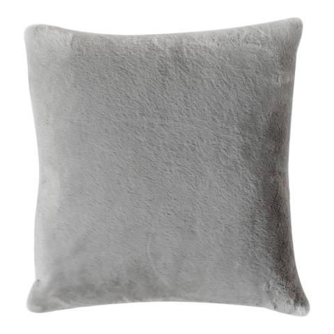 Kilburn & Scott Grey Faux Rabbit Double Sided Cushion 45 x 45cm