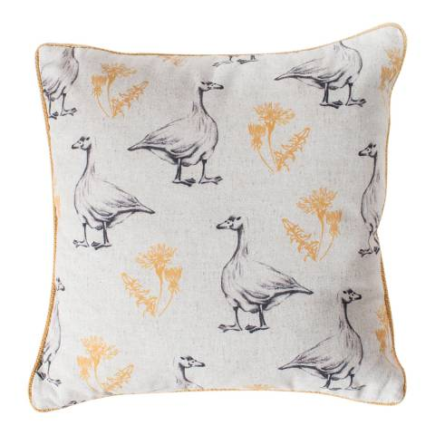 Gallery Ochre Goose and Dandelion Cushion 45x45cm