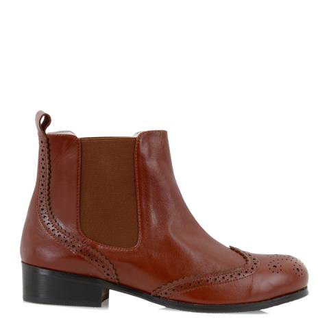 Yull Auburn Leather Chelsea Ankle Boots