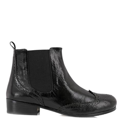 Yull Black Leather Chelsea Ankle Boots