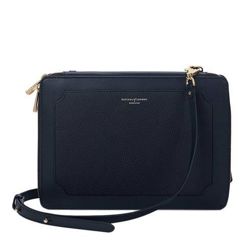 Aspinal of London Navy Pebble Leather Marylebone iPad Case