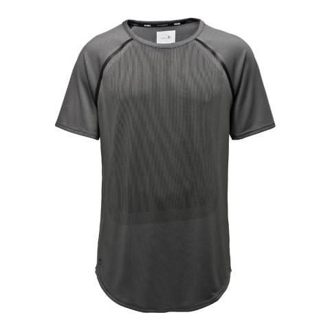 Puma Men's Grey Stampd Raglan Sleeve