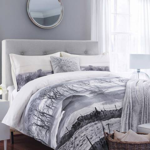 Gallery Grey Photographic Winterscene Double Bed In A Bag