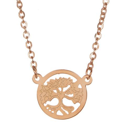Chloe Collection by Liv Oliver Rose Gold Plated Family Tree Pendant Necklace