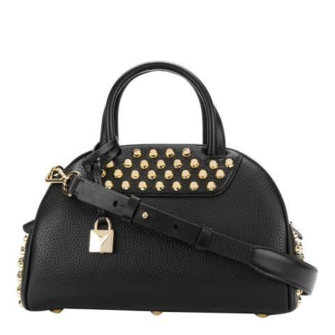 Michael Kors Black Austin Small Leather Studded Shoulder Bag